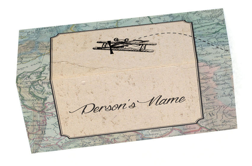 Vintage Travel Place Cards (with names)
