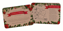Winter Leaves Christmas A6 Hand-tied invitation (3 cards)