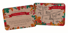 Autumn Leaves Colour A6 Hand-tied invitation (3 cards)