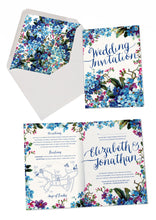 Forget-me-not A6 Folded Invitation