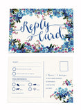 Forget-me-not A6 RSVP Postcard