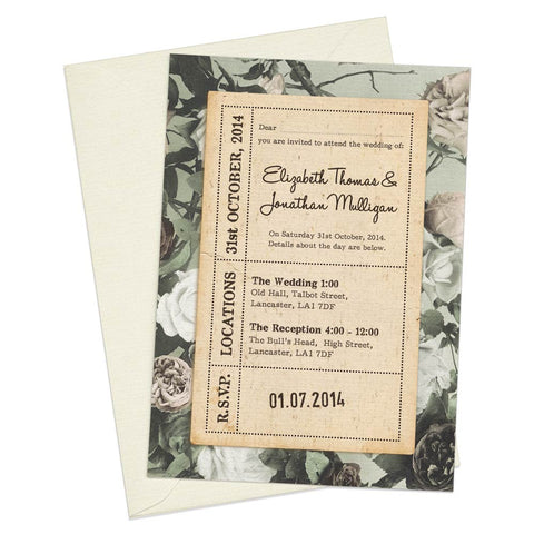 Paper & Roses A6 Evening Invitation