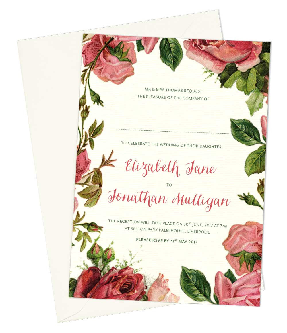 Love Letters A6 Evening Invitation
