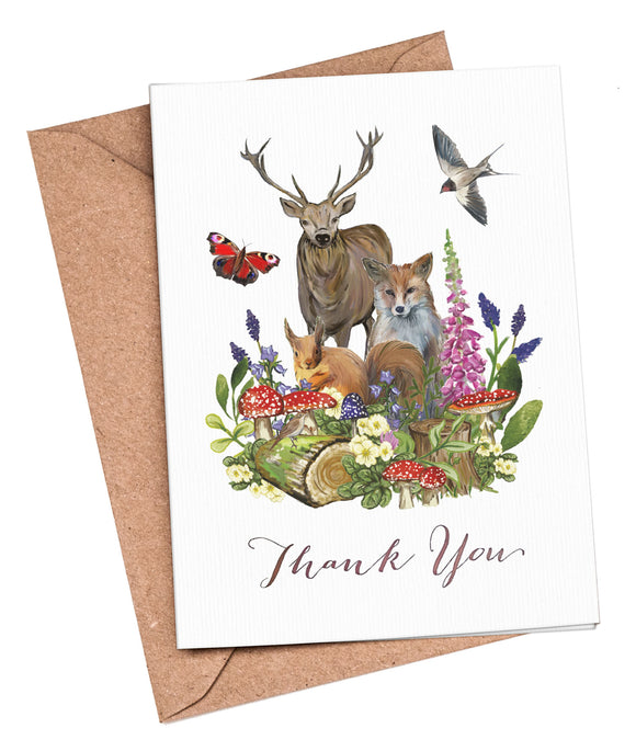 Thank You Cards: Woodland Animals