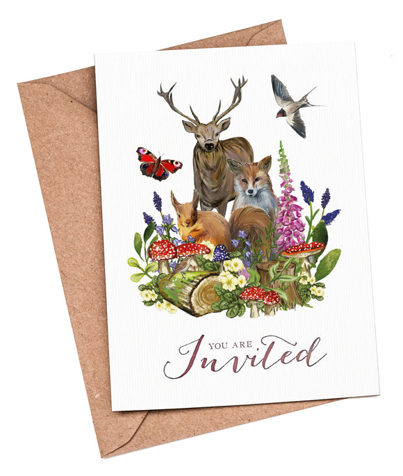 Woodland Watercolour Fill-in-yourself evening/party/blank invitations