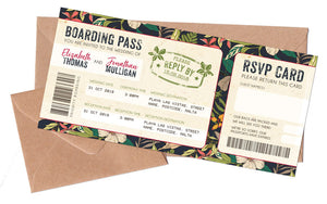 Boarding Pass Tickets & Envelopes to match NEW Tropical Travel Passport