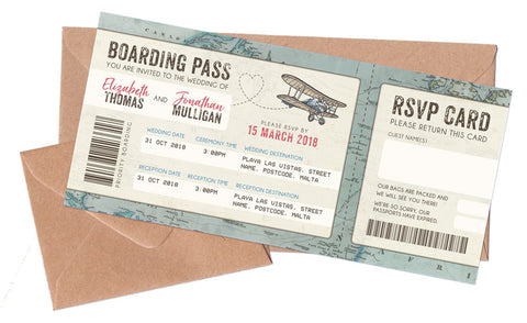 Boarding Passes & Envelopes to match NEW Vintage Travel Passport