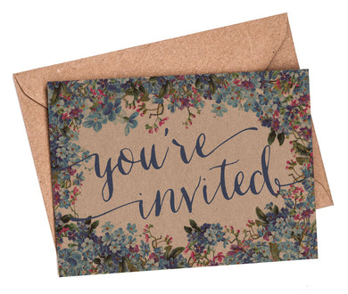 Forget-me-not Fill-in-yourself evening/party/blank invitations