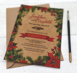 Winter Leaves A6 Single-sided Invitation