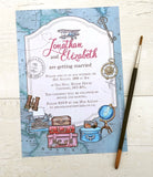New Vintage Travel A6 Single-sided Invitation