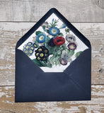 Botanical Coloured Flowers Envelope Liners