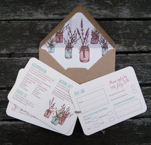 Jam Jars A6 Hand-tied invitation (3 cards)