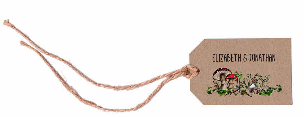 Woodland Walk Luggage Tag & String