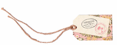Tropical Travel Luggage Tag & String