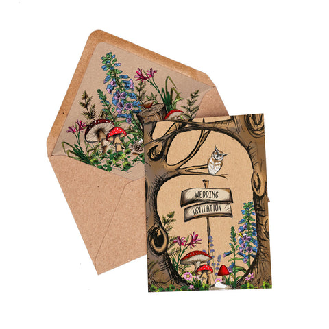 Woodland Booklet Invitation