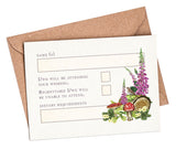 Woodland Venue A7 RSVP card and envelope