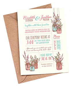 Jam Jars A5 Flat Invitation