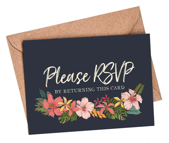 RSVP Cards & Envelopes to match NEW Tropical Travel Passport