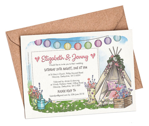 Wedding Festival A6 Flat Invitation