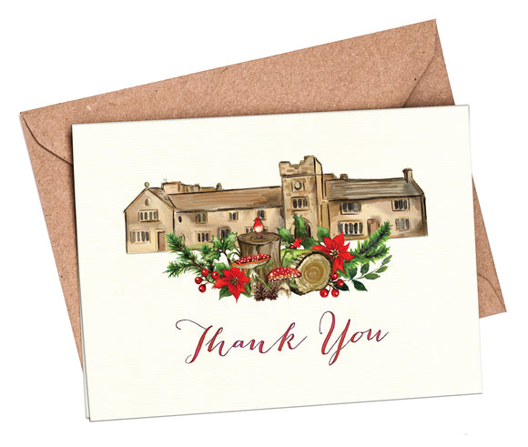 Winter Woodland Venue Thank You Cards