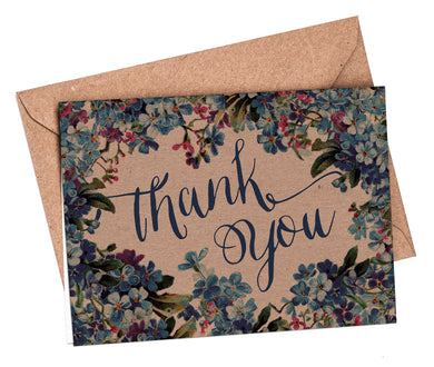 Mini A7 Folded Thank You Cards: Forget-me-not