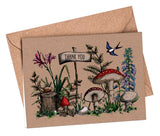 Mini A7 Folded Thank You Cards: Woodland Walk