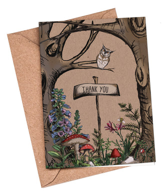 Thank You Cards: Woodland Walk (Owl in the tree)
