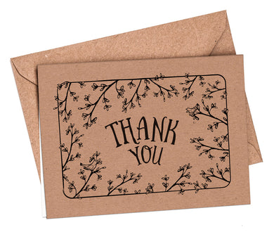 Thank You Cards: Secret Garden