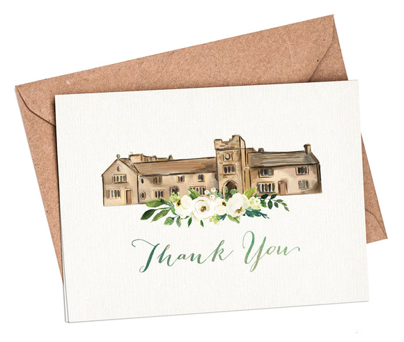 Watercolour Venue Thank You Cards
