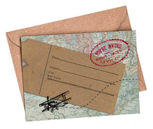 Vintage Travel Fill-in-yourself evening/party/blank invitations