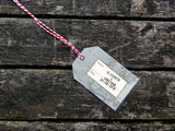Luggage Tags with stamped names to match NEW Vintage Travel Passport