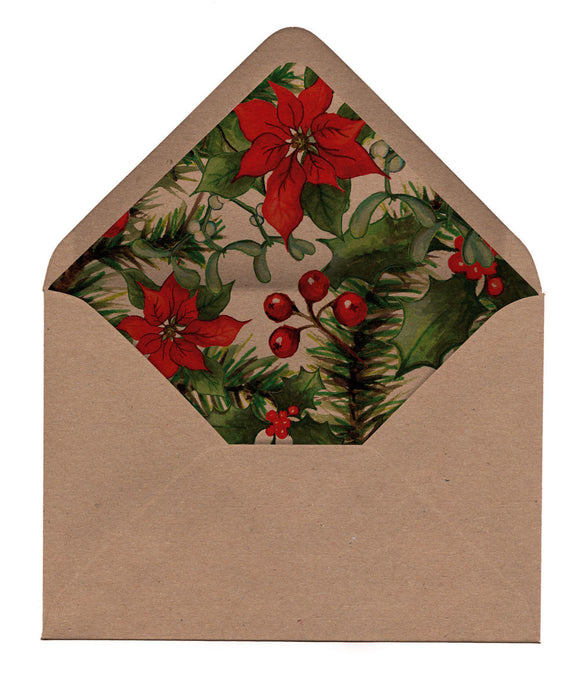 Winter Leaves Envelope Liners