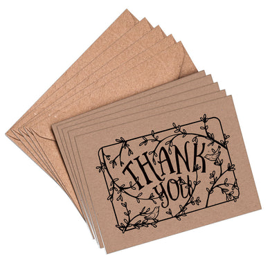 Mini A7 Folded Thank You Cards: Secret Garden