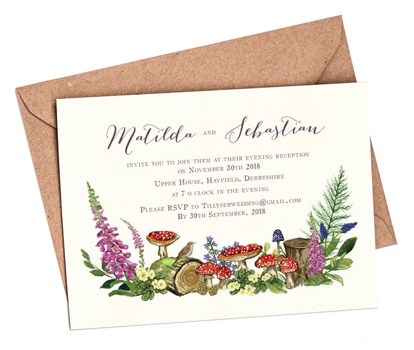 Woodland Venue A6 Flat Invitation