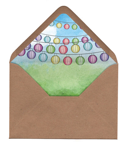 Wedding Festival Envelope Liners