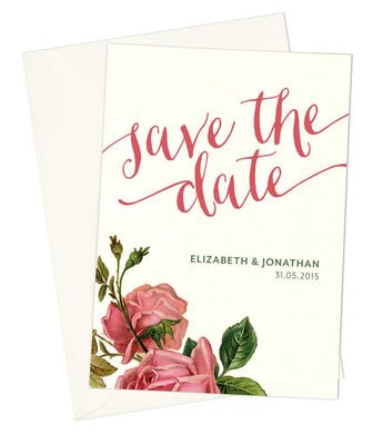 Love Letters A6 Save The Date card & Envelope