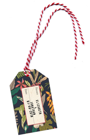 Luggage Tags with stamped names to match NEW Tropical Travel Passport