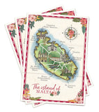 A5 paper folded map to match NEW Tropical Travel Passport (3 buildings included)
