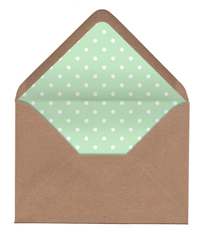Polka Dots & Roses Envelope Liners