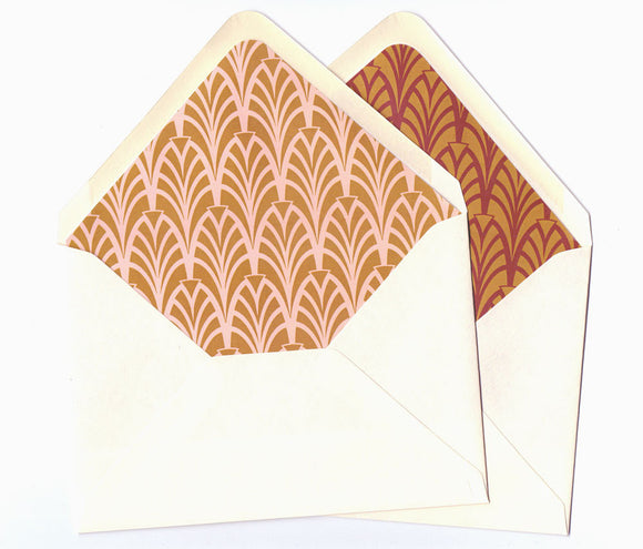 Gold Calligraphy Envelope Liners