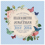 Butterfly Garden Square Evening Invitation