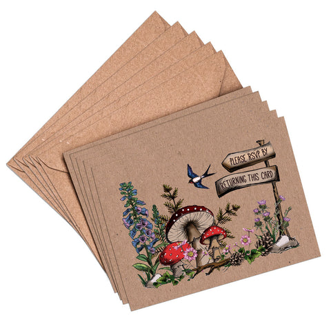 RSVP Cards & Envelopes to match woodland booklet