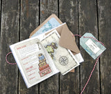 NEW Vintage Travel Passport With Plain Envelopes