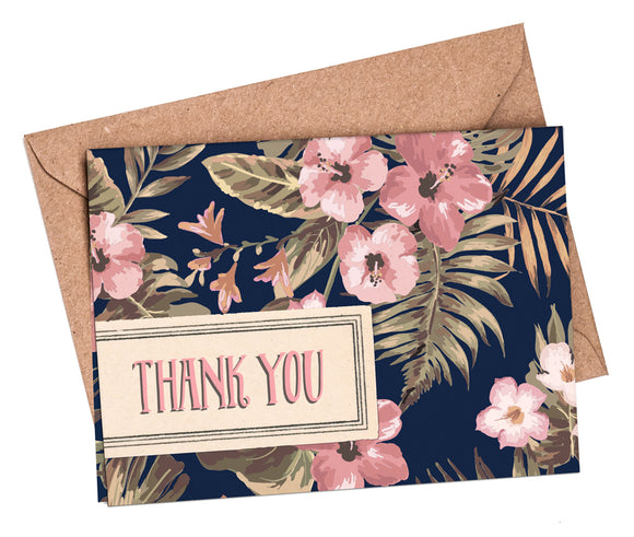 Mini A7 Folded Thank You Cards: Tropical Travel