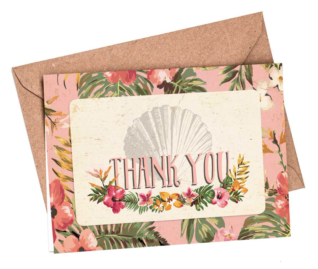 Thank You Cards: Tropical Travel