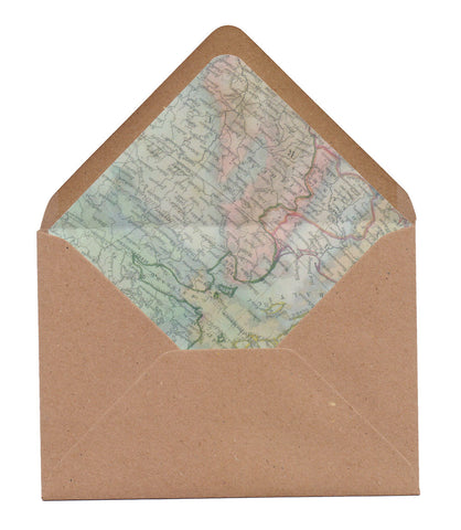 Vintage Travel A6 Envelope Liners