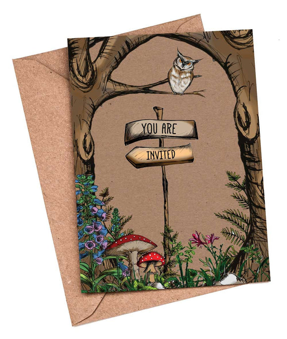 Woodland Walk Fill-in-yourself evening/party/blank invitations