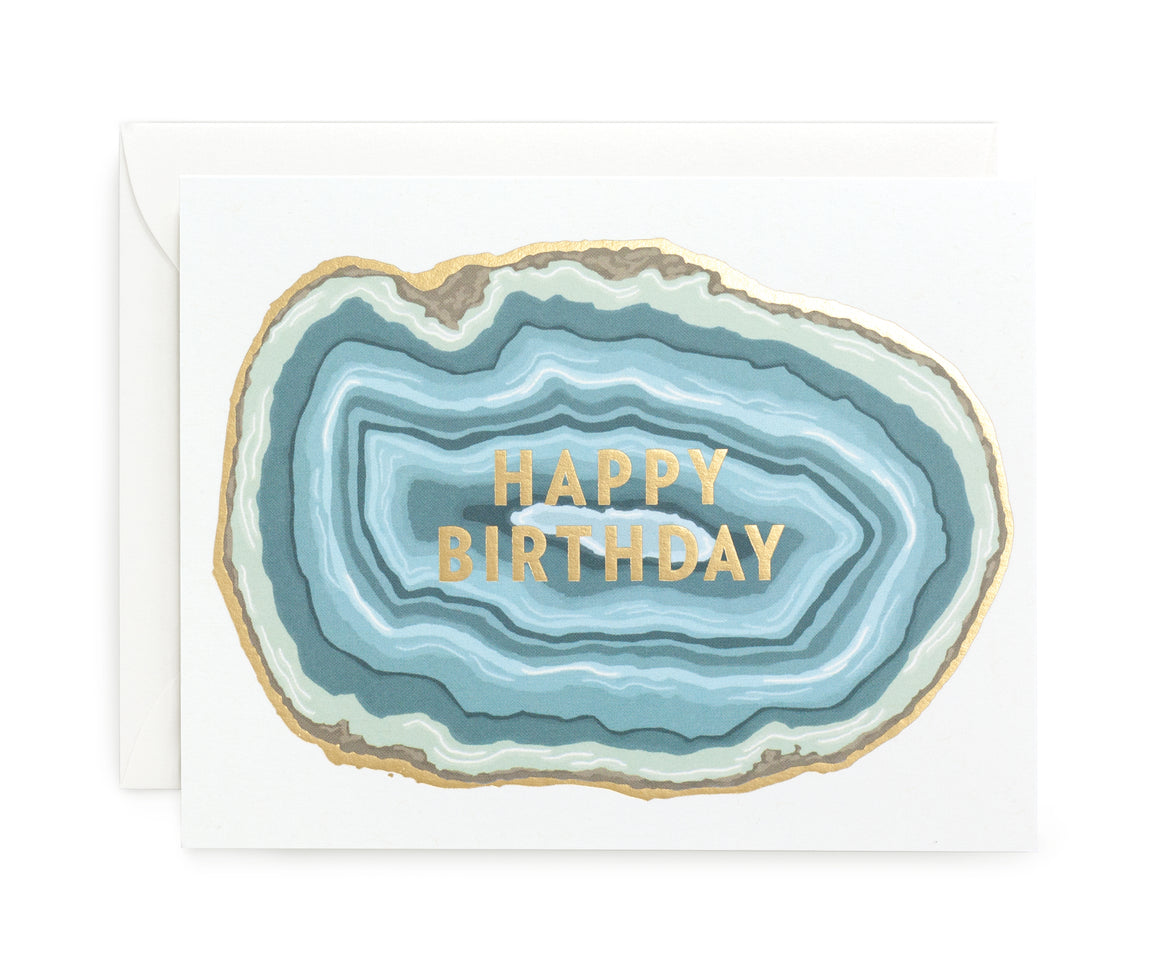Agate Birthday Card