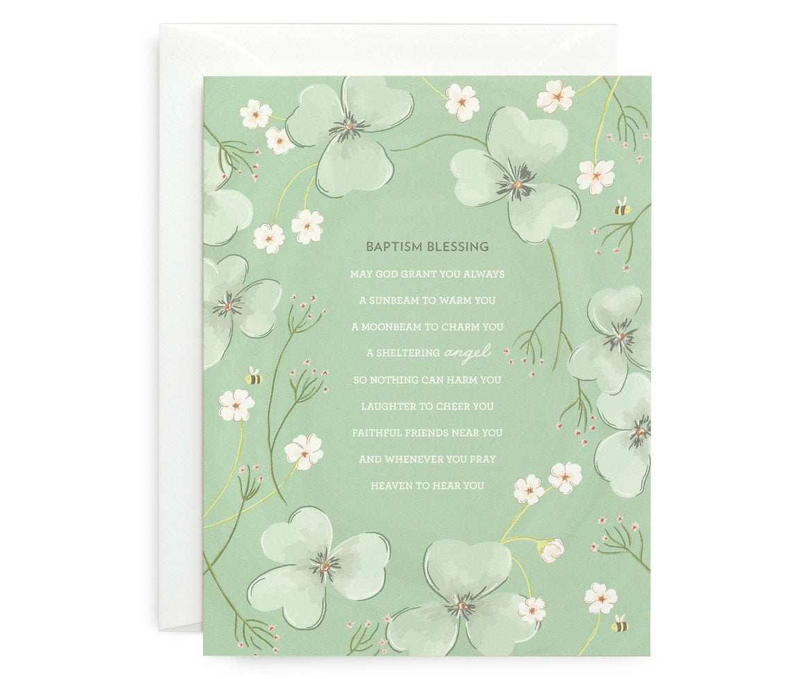 Baptism Blessing Card
