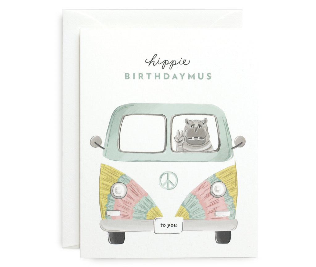 Hippie Birthdaymus Card